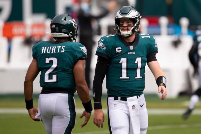 Jalen Hurts Carson Wentz Philadelphia Eagles