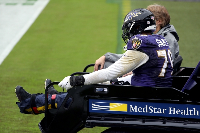 Ravens' LT Ronnie Stanley Out For The Season With Ankle Injury Two Days After Signing $99 Million Contract Extension