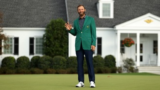 Dustin Johnson Had The Most Dustin Johnson Reaction To Winning The Masters, Broke Character In The Post Round Interview