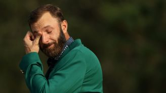 Amanda Balionis Reacts To Usually Unemotional Dustin Johnson Crying During Masters Interview