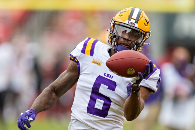 LSU's Top Wide Receiver Terrace Marshall Opts Out Of Season After Giving Passionate Speech About Not Giving Up