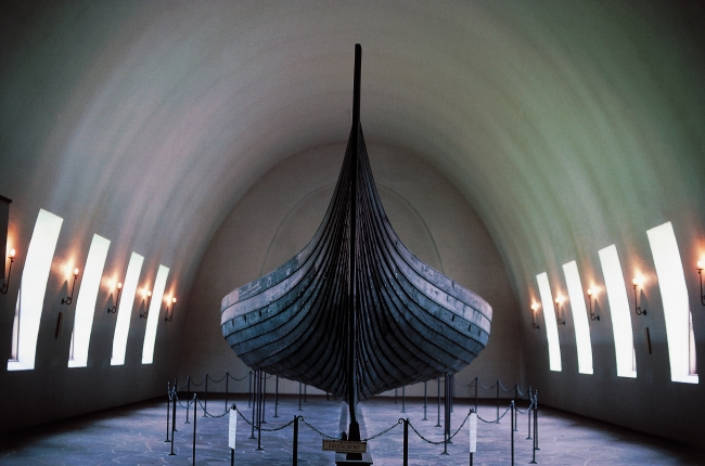 Gokstad viking ship, 9th century, Viking ship museum, Oslo, Norway. Oslo, Vikingskipshuset (Viking Ship Museum)