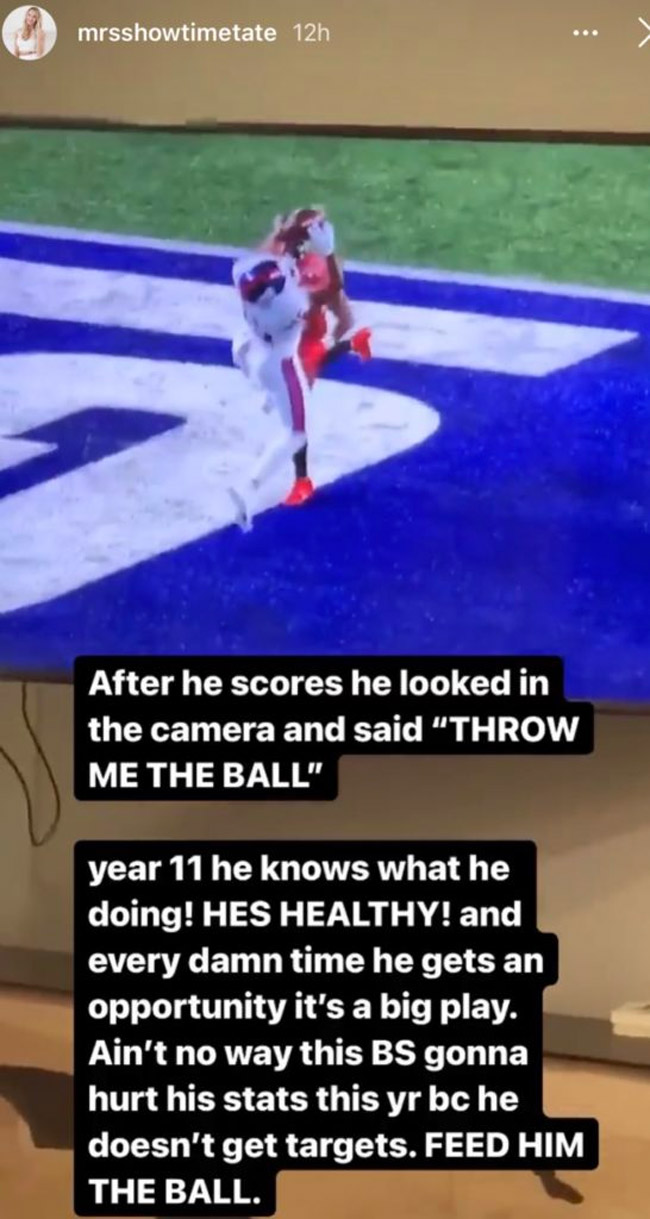 Golden Tate Wife Elise Rips Giants For Not Throwing Him The Ball Enough