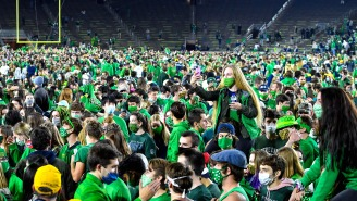 Notre Dame Says It Has No Positive Coronavirus Tests After Fans Stormed The Field