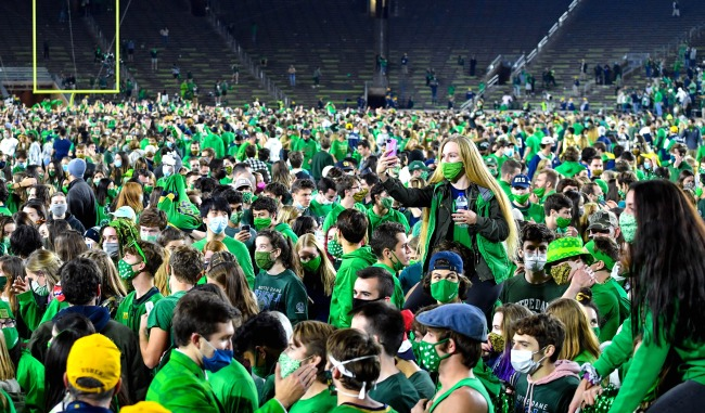 Notre Dame No Positive Coronavirus Tests After Fans Stormed The Field