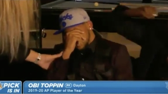 New York Native Obi Toppin Broke Down In Tears After Being Drafted No. 8 Overall By The Knicks
