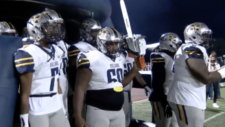 This Mississippi JUCO Football Team's Chainsaw Entrance Was Charged Up, But It Didn't Last Long