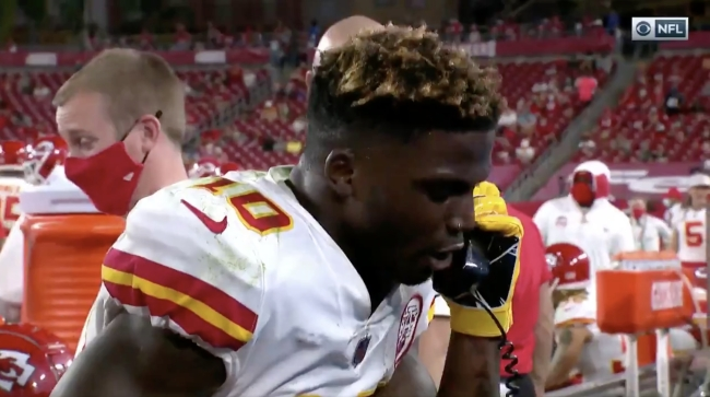 Tyreek Hill On The Phone