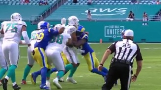Aaron Donald Absolutely Destroys Tua Tagovailoa In Dolphins' First Drive Of The Game