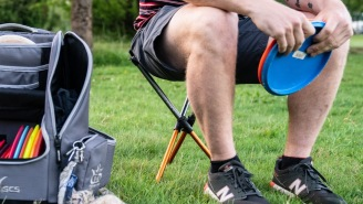This Camping Stool Comfortably Holds A 240-Pound Man And It Folds Up To The Size Of Some Glowsticks