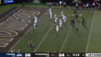 Western Michigan Busts Out 'Dan Marino' Fake Spike Play And Gets Game-Winning Touchdown Vs Toledo