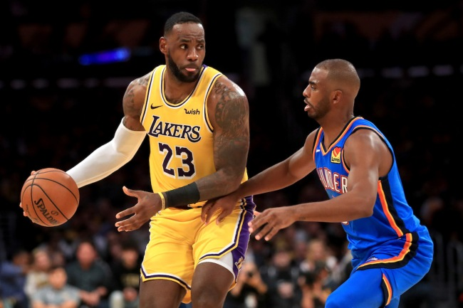 Former NBA player Kendrick Perkins explains why he thinks Chris Paul to the Lakers this offseason is all but a certainty