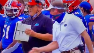 Florida HC Dan Mullen Loses His Mind And Yells At Defensive Coordinator Todd Grantham On The Sidelines