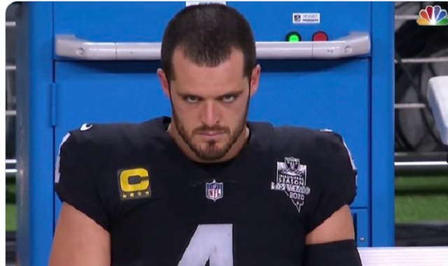 Derek Carr's angry stare became an instant meme during Raiders-Chiefs