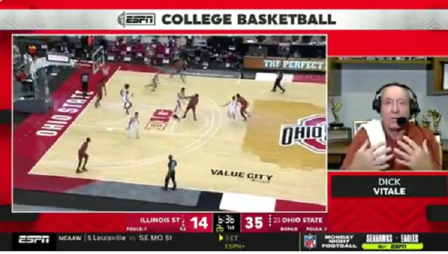 College Basketball Fans React To Awkward Dick Vitale Interview Where Talks About Death In The Middle Of Ohio State-Illinois State Game