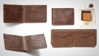 Make Your Own Horween Leather Wallet With This Simple To Use DIY Kit That's Foolproof
