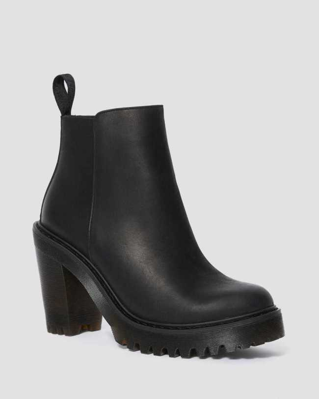 Dr. Marten's Magdalena Women's Leather Heeled Chelsea Boots