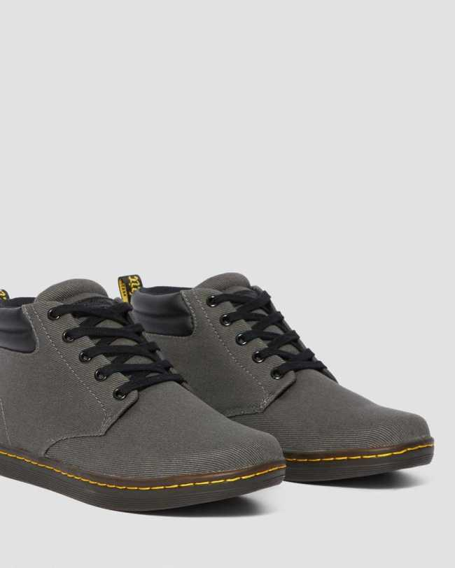 Doc Martens Maleke Men's Twill Canvas Casual Boots