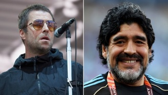 Liam Gallagher's Story Of How Diego Maradona Once Threatened To Shoot Him At A Bar Goes Viral