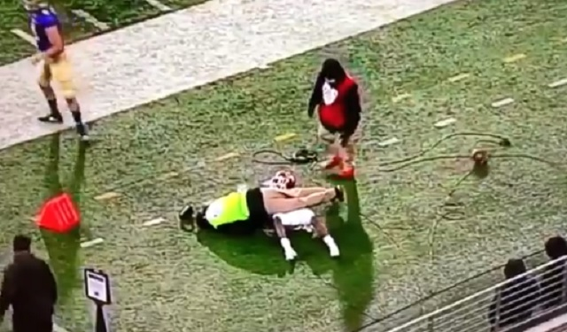 Man Standing On Sidelines Gets Knocked Out Cold After Player Runs Into Him During Utah-Washington Game