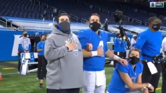Fans Were Surprised To See Matt Stafford Kneeling During The National Anthem Before Thanksgiving Day Game