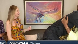 Zeke Nnaji's Mom Goes Viral And Becomes An Instant Meme Because Of Her Dress On NBA Draft Night