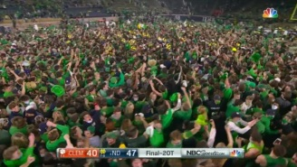 The Internet Blasts Notre Dame Fans For Rushing The Field During Pandemic