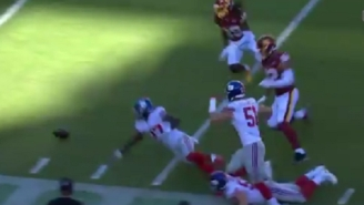 Washington And NY Giants Players Hilariously Have Trouble Picking Up Fumble Because The NFC East Is A Dumpster Fire