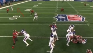 Daniel Jones Misses Wide Open Receiver For A TD And Throws A Terrible Interception Instead