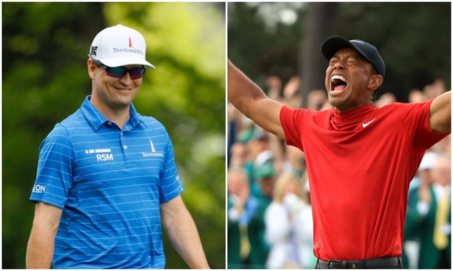 zach johnson watched tiger woods masters phone