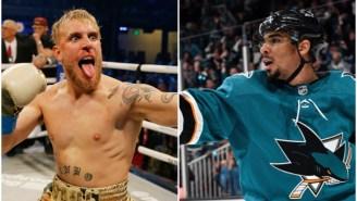 Sharks' Forward Evander Kane Challenges Jake Paul To Boxing Match: 'I'd Wreck Ya'