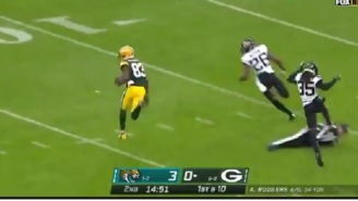 Ref Falls And Accidentally Blocks Jaguars Defender And Leads To Packers Touchdown