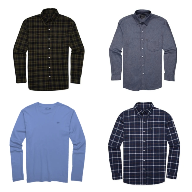 Texas Standard's long-sleeved tees and flannel shirts
