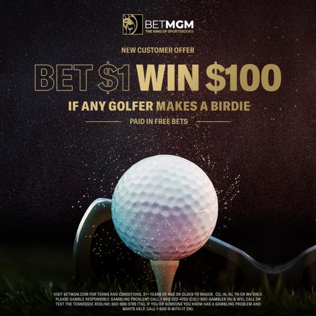 The Masters: BetMGM birdie deal