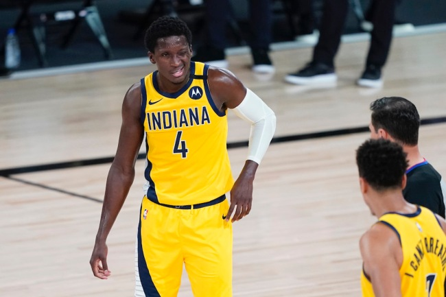 Pacers star Victor Oladipo was allegedly out pitching himself to get traded for during NBA games last season