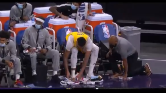 NBA Fans Were Grossed Out By Lakers' Anthony Davis Clipping His Toenails On The Bench During Preseason Game Vs Suns