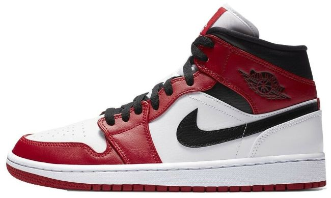 Air Jordan 1 Chicago Mid White Heel