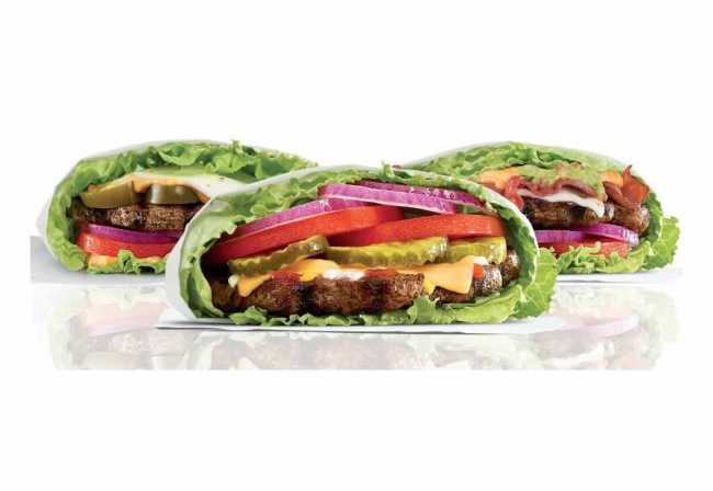 carls jr lettuce wrapped burgers