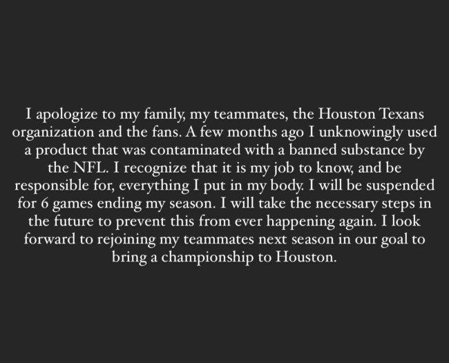 Bradley Roby Apology