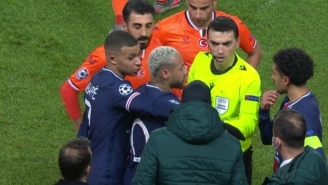 PSG And Istanbul Basaksehir Players Walked Off Of The Pitch During The First Half Of A Champions League Match Amid Allegations Surrounding The Use Of A Racial Slur By A Referee