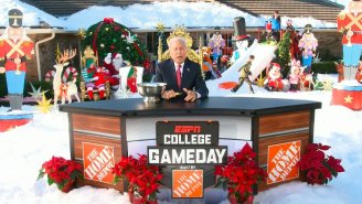 Lee Corso Turned His Florida Backyard Into A Winter Wonderland For College Gameday