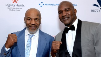 Evander Holyfield Calls Out Mike Tyson In Press Release, Says Jones Was Just A 'Tune-Up Fight'
