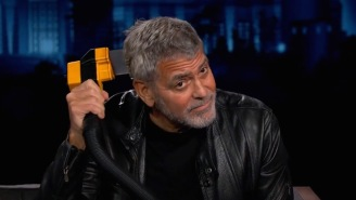 George Clooney Demonstrates His Mad Flowbee Hair Cutting Skills For Jimmy Kimmel