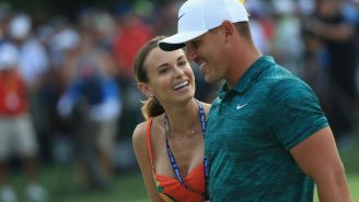 Brooks Koepka's Girlfriend Jena Sims Feeds Him Grapes On The Beach Following Missed Cut He Clearly Couldn't Care Less About