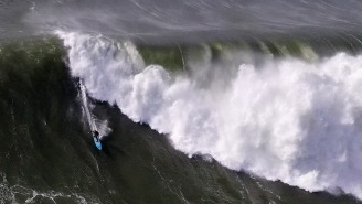 The World's Best Big Wave Surfers Were Bombing 3-Story Waves In Nor-Cal's Biggest Day In Years