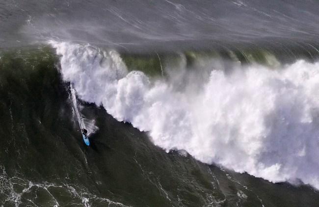 Mavericks surfing Half Moon Bay, California