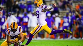 LSU's Kicker Cade York Gator-Chomped Florida Fans In The Swamp After Hitting A 57-Yard Game Clinching Field Goal