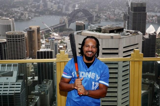 Manny Ramirez playing baseball in Australia