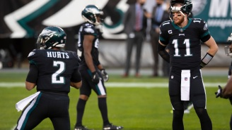 Carson Wentz Reportedly Wants Out Of Philadelphia Because He's Not Happy Jalen Hurts Took His Starting QB Job