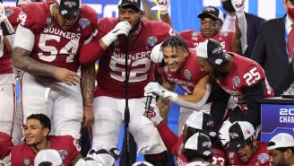 Oklahoma Football Broke Out The Malcom Kelly Freestyle Rap After Beating Florida In The Cotton Bowl